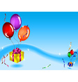 Floating gifts and balloons vector image vector image