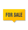 for sale price tag vector image vector image