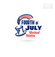fourth of july united states vector image vector image