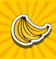 fresh banana delicious fruit drawing sticker image vector image vector image