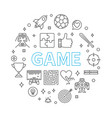 game round concept in thin vector image vector image