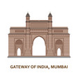 gateway of india mumbai indian most famous sight vector image
