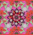 gentle spring floral background flowers on pink vector image