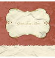 Golden vintage banner on grunge paper vector image