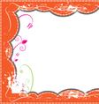 grunge frame design vector image vector image