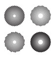 halftone circles dots twisted spirals vector image vector image