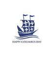 happy columbus day national usa holiday vector image vector image