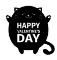 happy valentines day black cat ready for a vector image vector image
