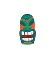 hawaiian idol tiki mask with face icon flat vector image vector image