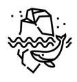 iceberg line icon vector image