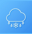 icon weather cloud and sleet vector image vector image