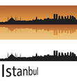 Istanbul skyline in orange background vector | Price: 1 Credit (USD $1)