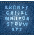 Jeans Alphabet vector image vector image