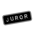 Juror rubber stamp vector image