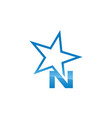 letter n with star vector image
