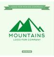Logo abstract mountain vector image vector image