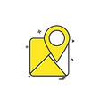 map icon design vector image