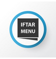 menu icon symbol premium quality isolated iftar vector image vector image
