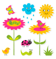 Nature design elements set vector image