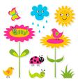 Nature design elements set vector image vector image