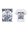 nautical anchor t-shirt print yacht club vector image