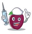 nurse plum character cartoon style vector image
