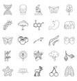 organic icons set outline style vector image vector image