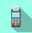 payment terminal icon flat style vector image
