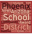 Phoenix Schools Receive Numerous Accolades text vector image vector image