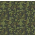 Pixel camo seamless pattern Green forest vector image vector image