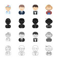profession vocation education and other web icon vector image vector image