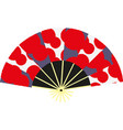 red chinese fan vector image vector image