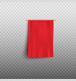 red flag or empty fabric banner mockup 3d vector image vector image