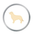 Retriever icon in cartoon style for web vector image vector image