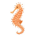 sea horse icon cartoon style vector image