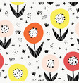 seamless flower pattern bold florals vector image