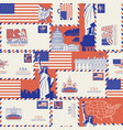 seamless pattern on theme usa vector image vector image