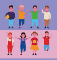 set of children having fun vector image