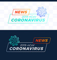 set outline breaking news headline covid-19 vector image