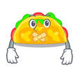 silent omelatte fried isolated on the mascot vector image vector image