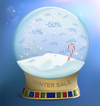 snow globe discounts vector image vector image