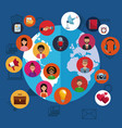 social media and people vector image vector image