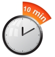 Timer 10 minutes vector image