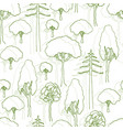 trees pattern seamless pattern of trees vector image vector image