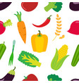vegetables pattern flat set of carrot laminaria vector image