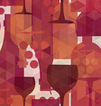 Wine and drink seamless pattern background vector image