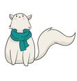 Winter Cat vector image