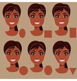 woman face shape types vector image vector image