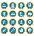 zombie icons blue circle set vector image vector image