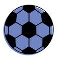 soccer ball sport toy icon vector image